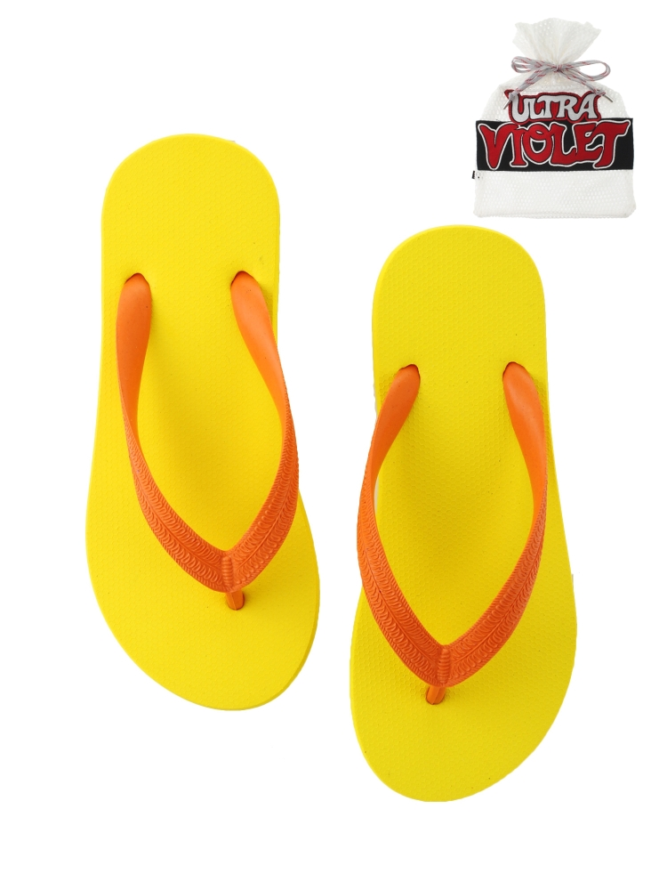 NATURAL RUBBER FLIP FLOPS YELLOW(オレンジ-S)
