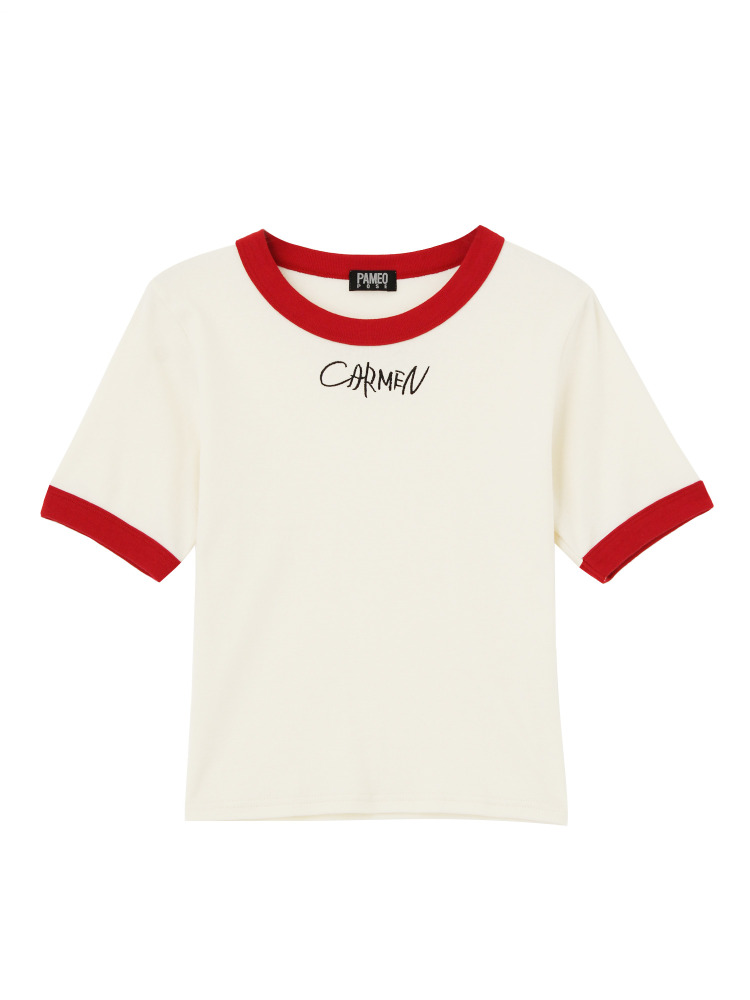 CARMEN TIGHT T-SHIRTS(ホワイト-F)