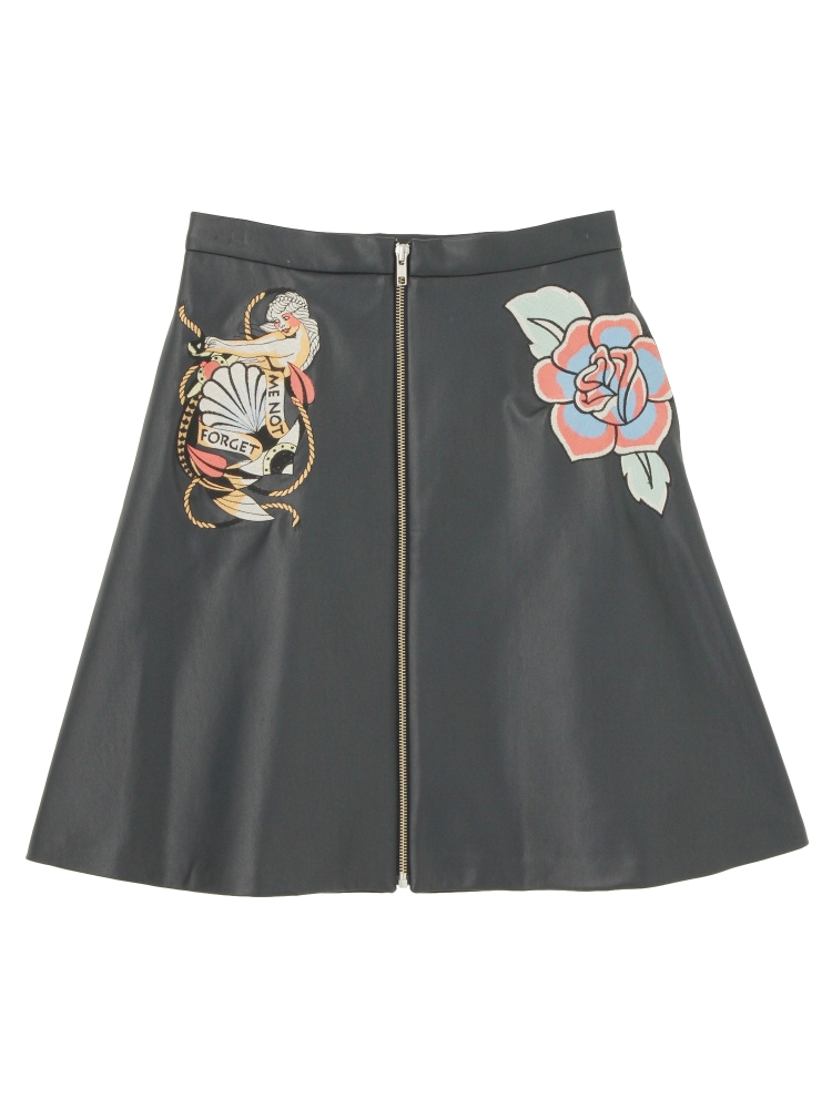 【Disaya】MEMOIREBEL FRONT-ZIP SKIRT(ネイビー-8)