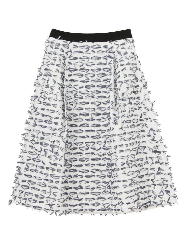 【Disaya】TASSEL REFINE SKIRT(ホワイト-8)