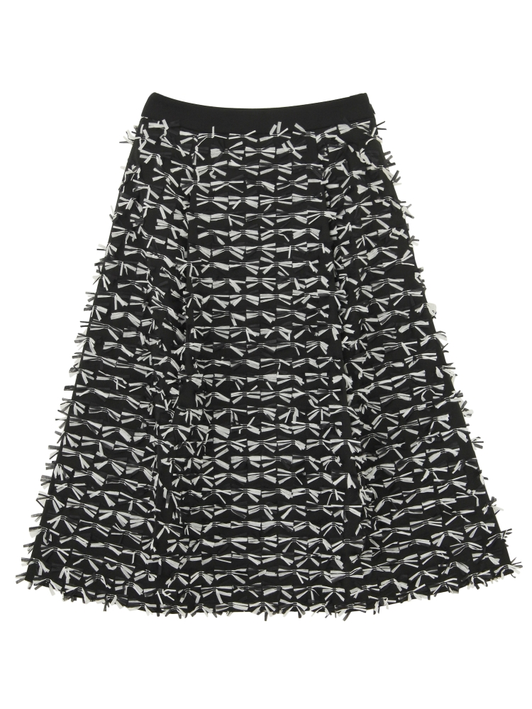 【Disaya】TASSEL REFINE SKIRT(ブラック-8)
