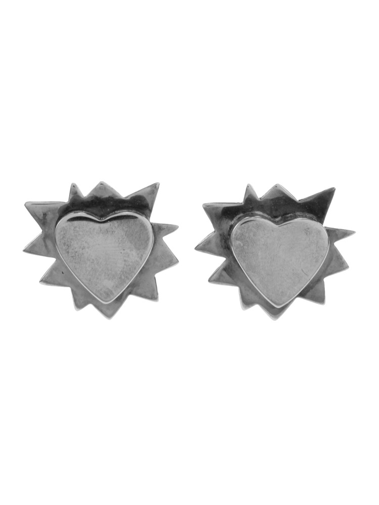【O THONGTHAI】REBEL HEART EARRING(シルバー-F)