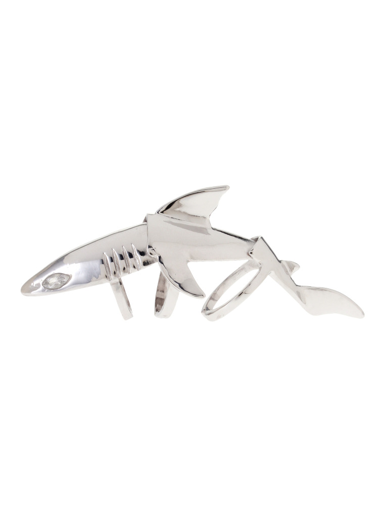 【77th】Silver Shark Knuckle Ring(シルバー-F)