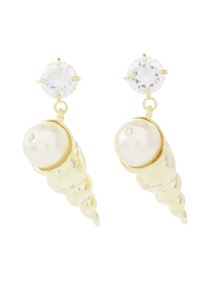 【77th】Spiral Shell Earrings(ゴールド-F)
