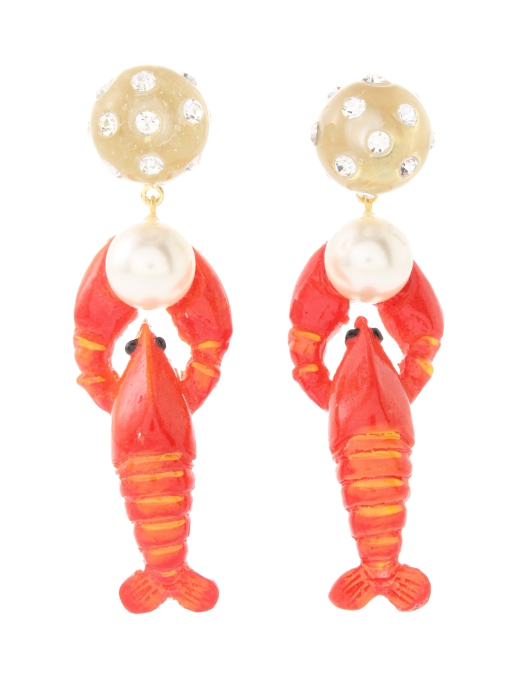 【77th】Lobster Earrings(レッド-F)