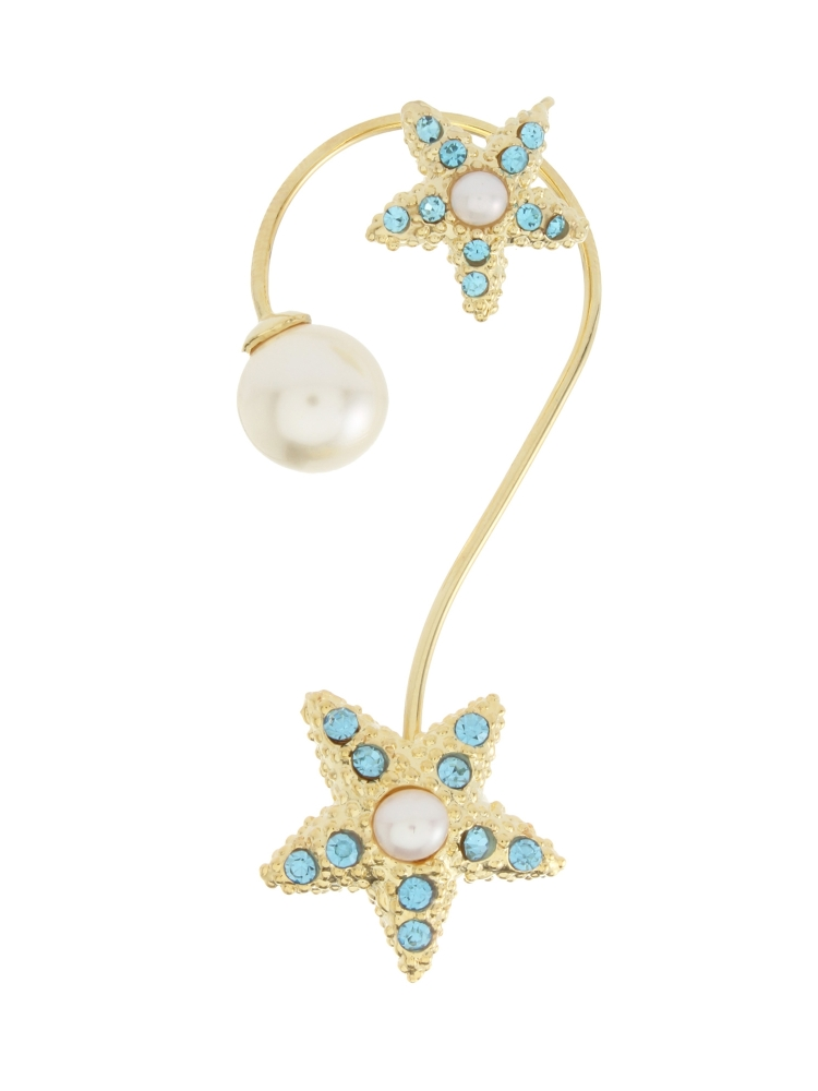 【77th】Starfish Ear Cuff(ブルー-F)