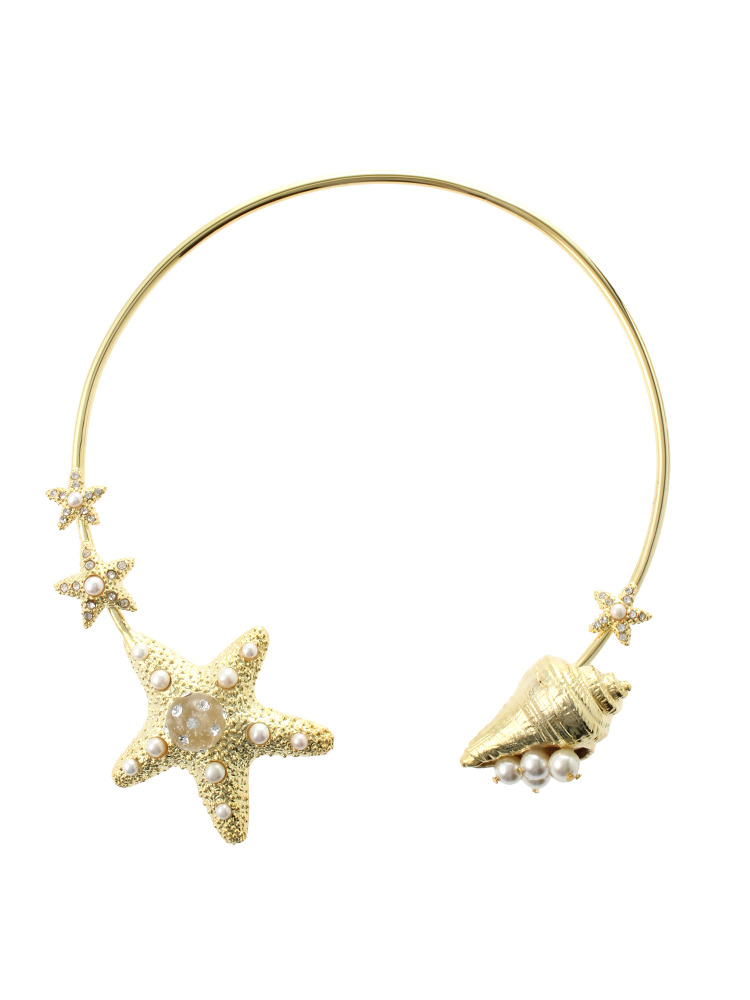 【77th】Starfish and Shell Necklace(ゴールド-F)