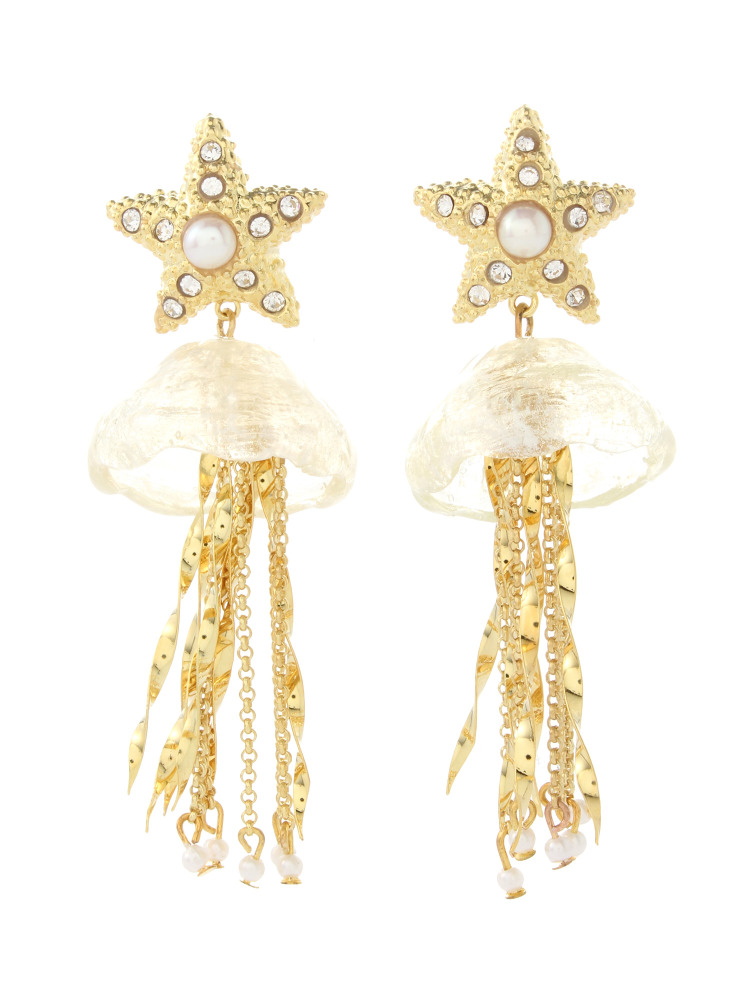 【77th】Jelly Fish Earrings(ホワイト-F)