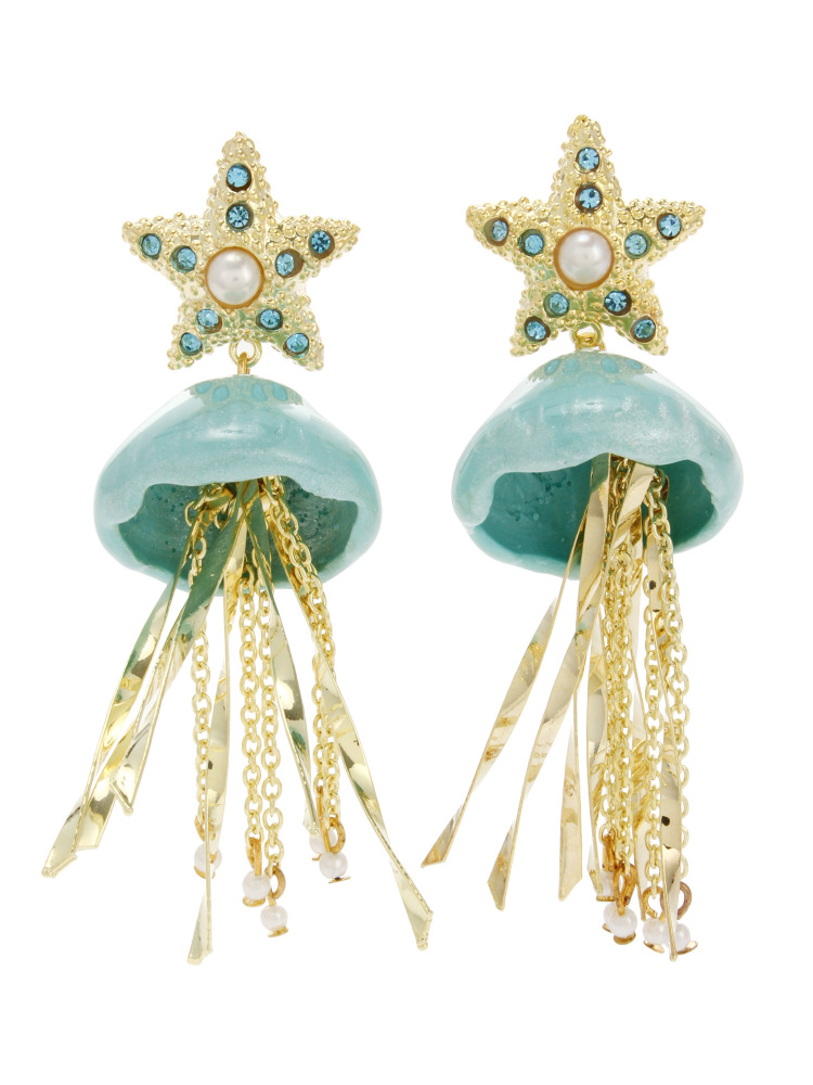 【77th】Jelly Fish Earrings(ブルー-F)