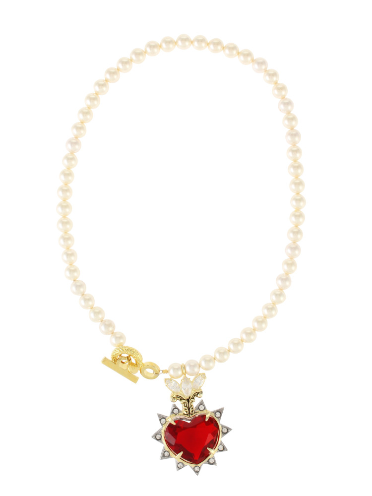【77th】Heart My Honey Gem With Pearl Necklace(レッド-F)