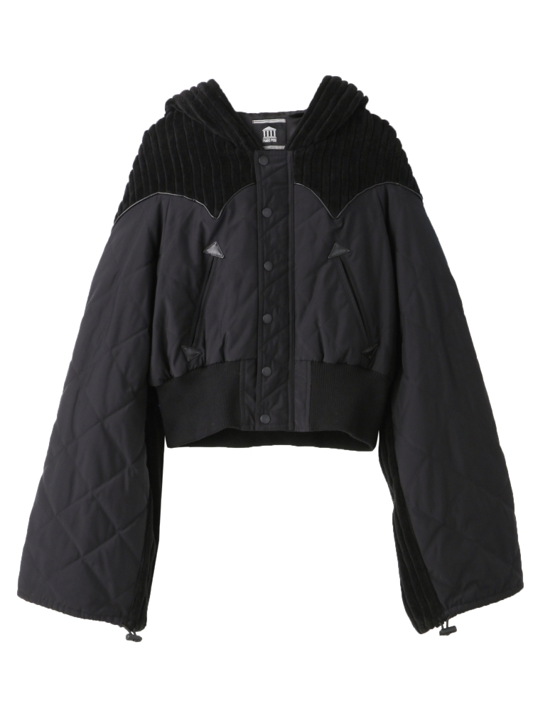 【WEB先行予約】DRAWSTRING SLEEVE JACKET(ブラック-F)