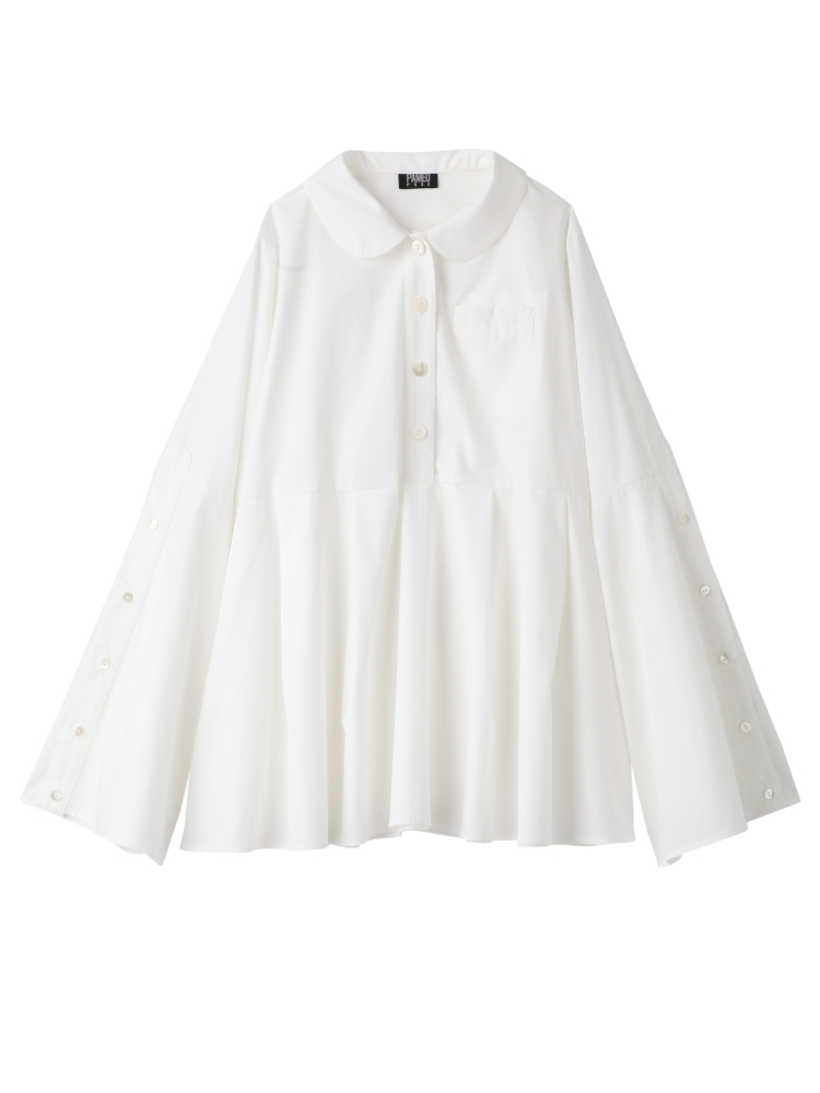PLEATED SHIRT(ホワイト-F)