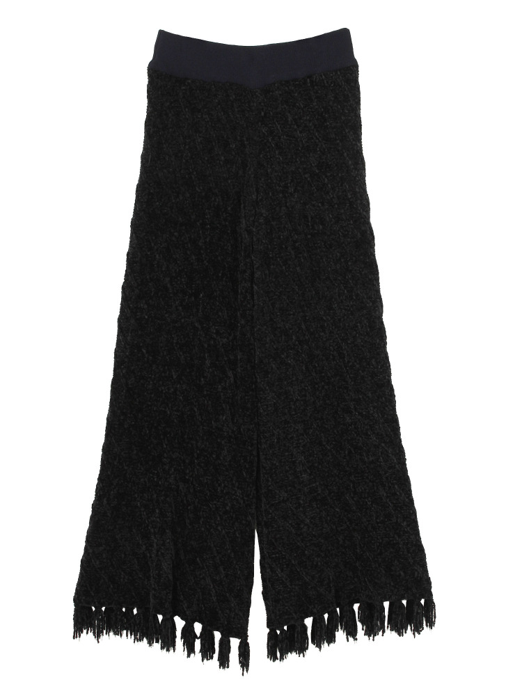 MALL KNIT TROUSERS(ブラック-F)