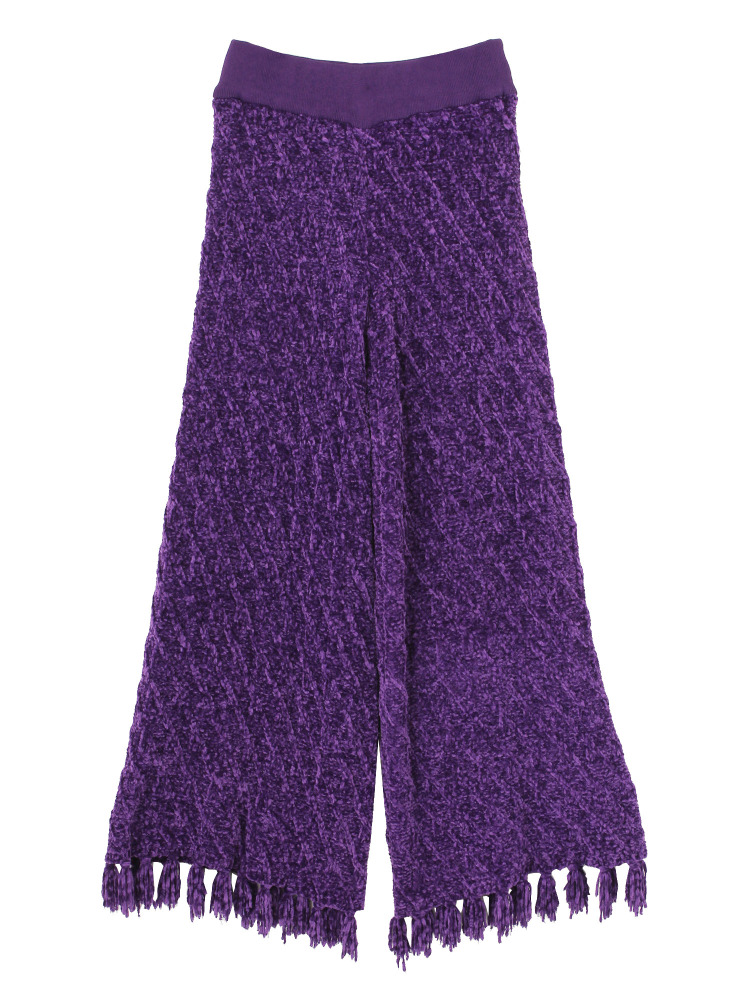【9月新作】MALL KNIT TROUSERS(パープル-F)