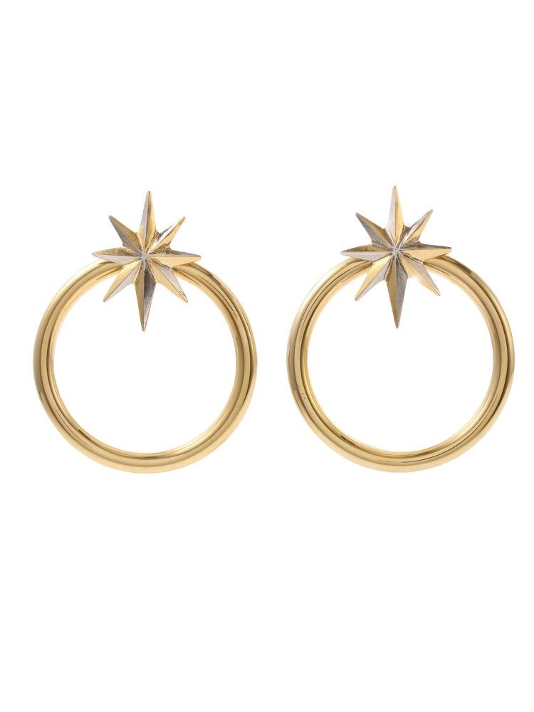 【秋新作】NUIT STAR EARRINGS GOLD(ゴールド-F)