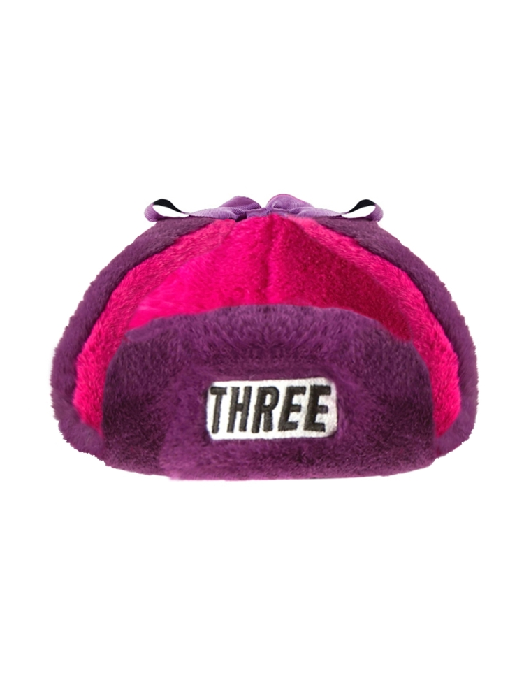 "【9月新作】""THREE""FAKE FUR FLIGHT CAP(ピンク-F)"