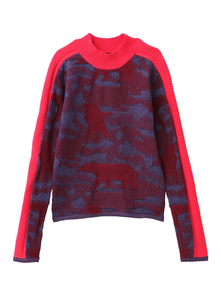 【先行予約】POLOR BEAR GLITTER SWEATER(レッド-F)