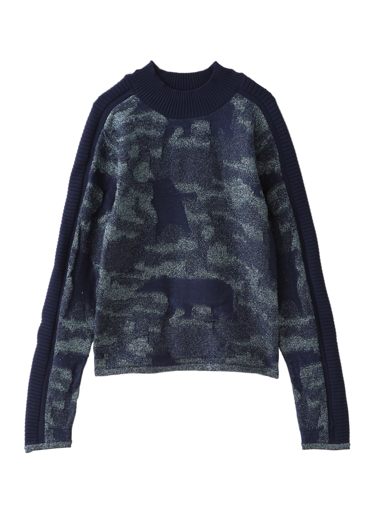 【先行予約】POLOR BEAR GLITTER SWEATER(ネイビー-F)