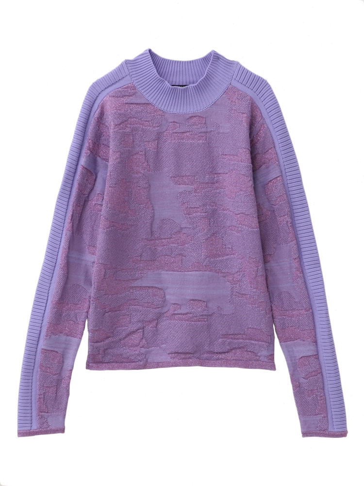 【先行予約】POLOR BEAR GLITTER SWEATER(パープル-F)