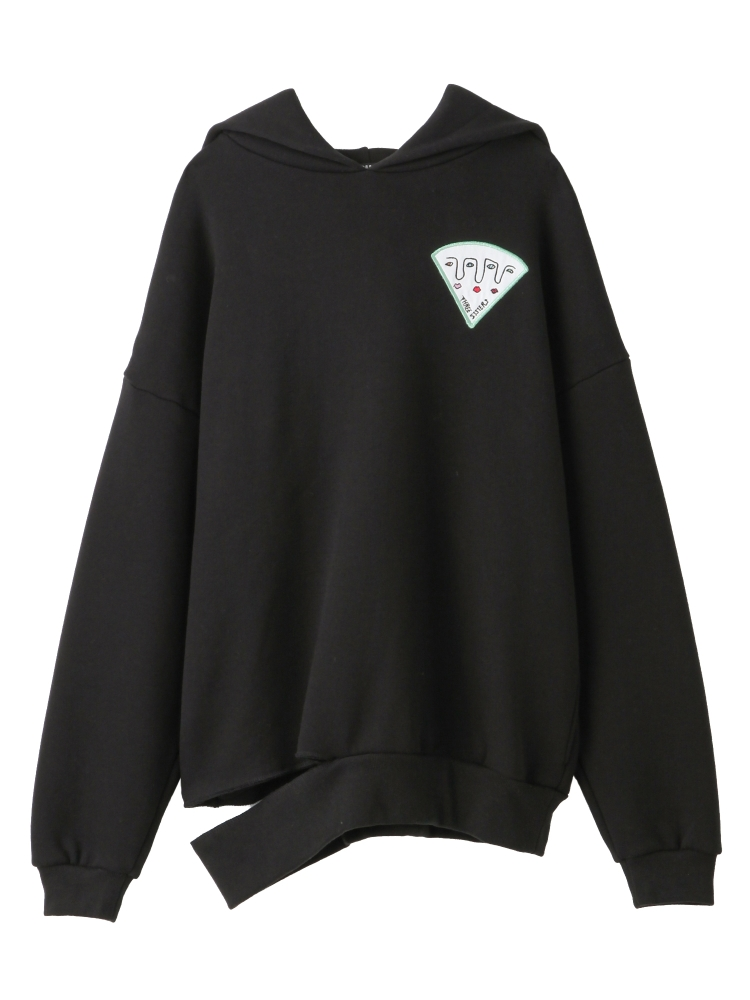 PIZZA OF THREE SISTERS HOODIE(ブラック-F)