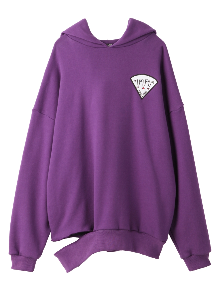 【9月新作】PIZZA OF THREE SISTERS HOODIE(パープル-F)