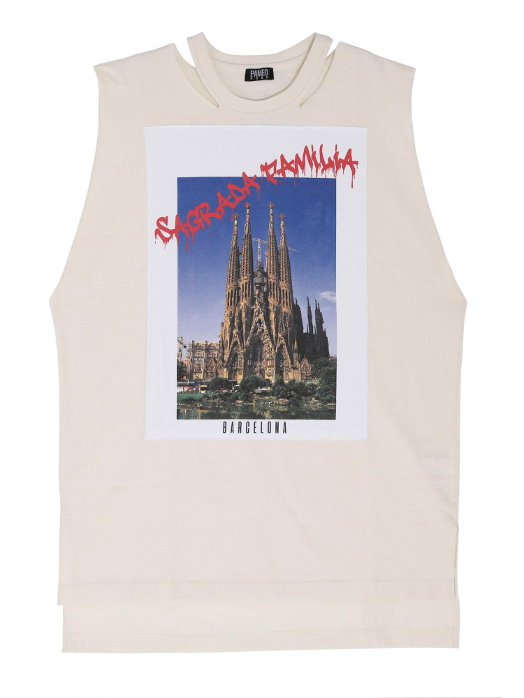 SAGRADA FAMILIA POSTCARD TOP(ホワイト-F)