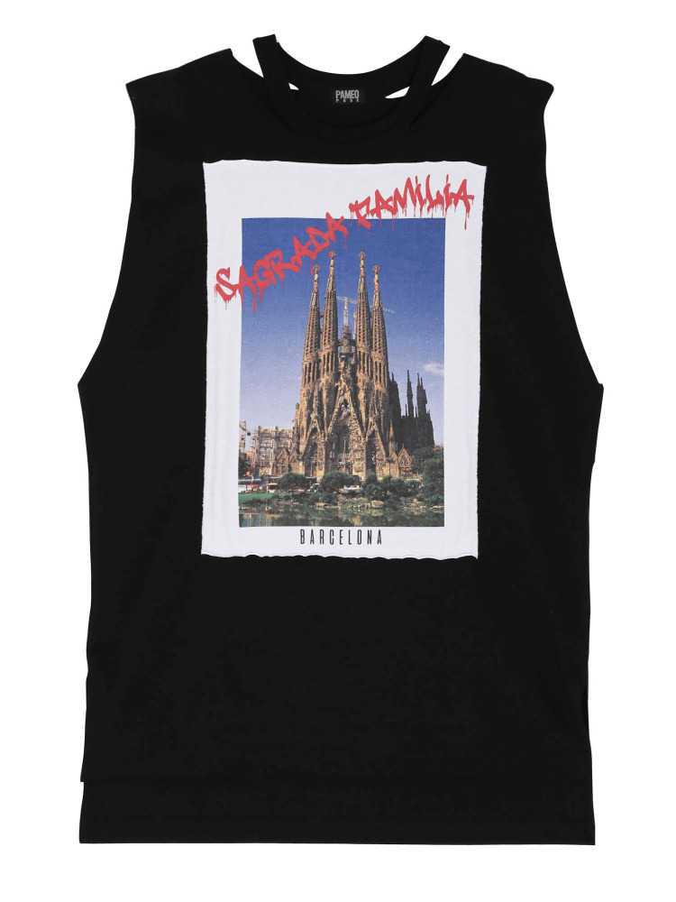 SAGRADA FAMILIA POSTCARD TOP(ブラック-F)