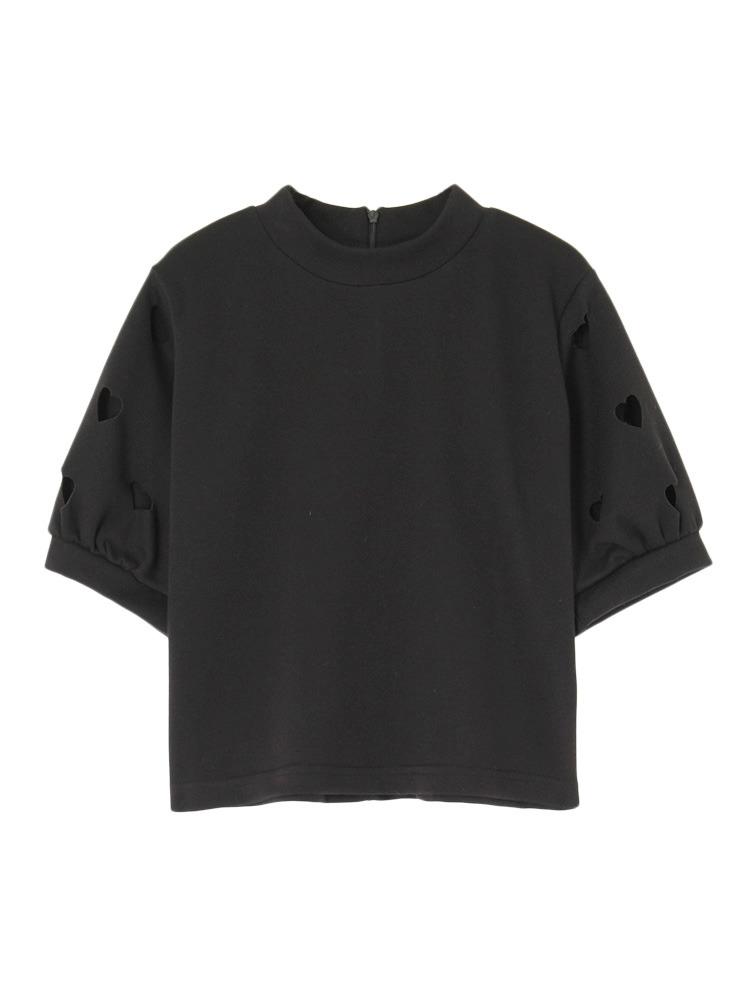 ハートスリーブTOPS(ブラック-F)