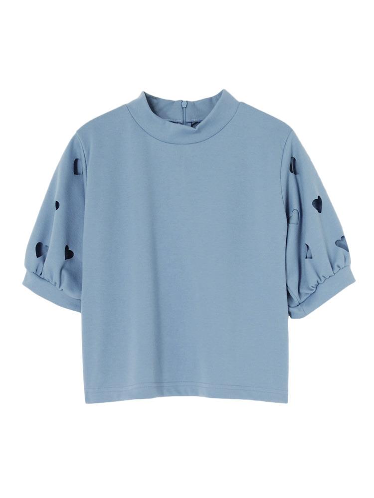 ハートスリーブTOPS(ブルー-F)