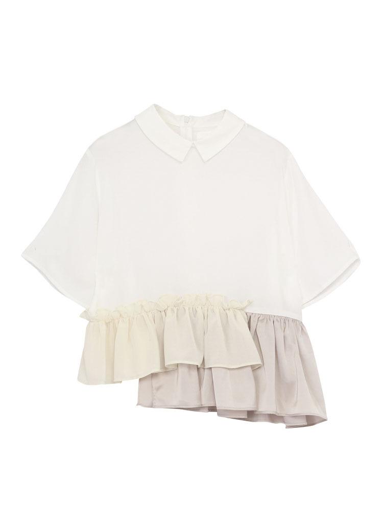 いそざいキリカエシャツ(オフホワイト-F)