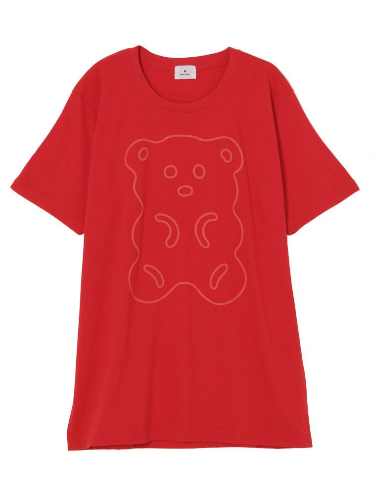 ふちどりくまさんTシャツ(レッド-F)