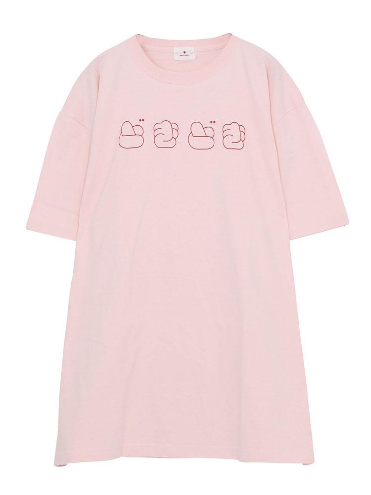 どきどきTシャツ(ベビーピンク-F)