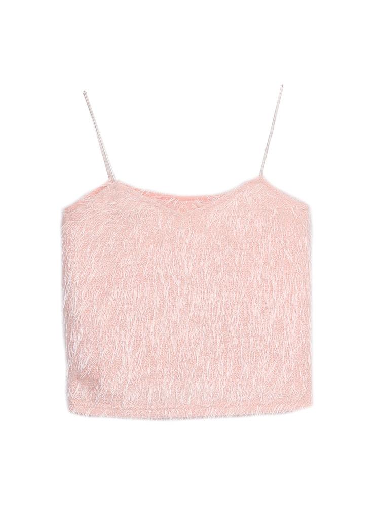 シャギーキャミソール(ピンク-F)