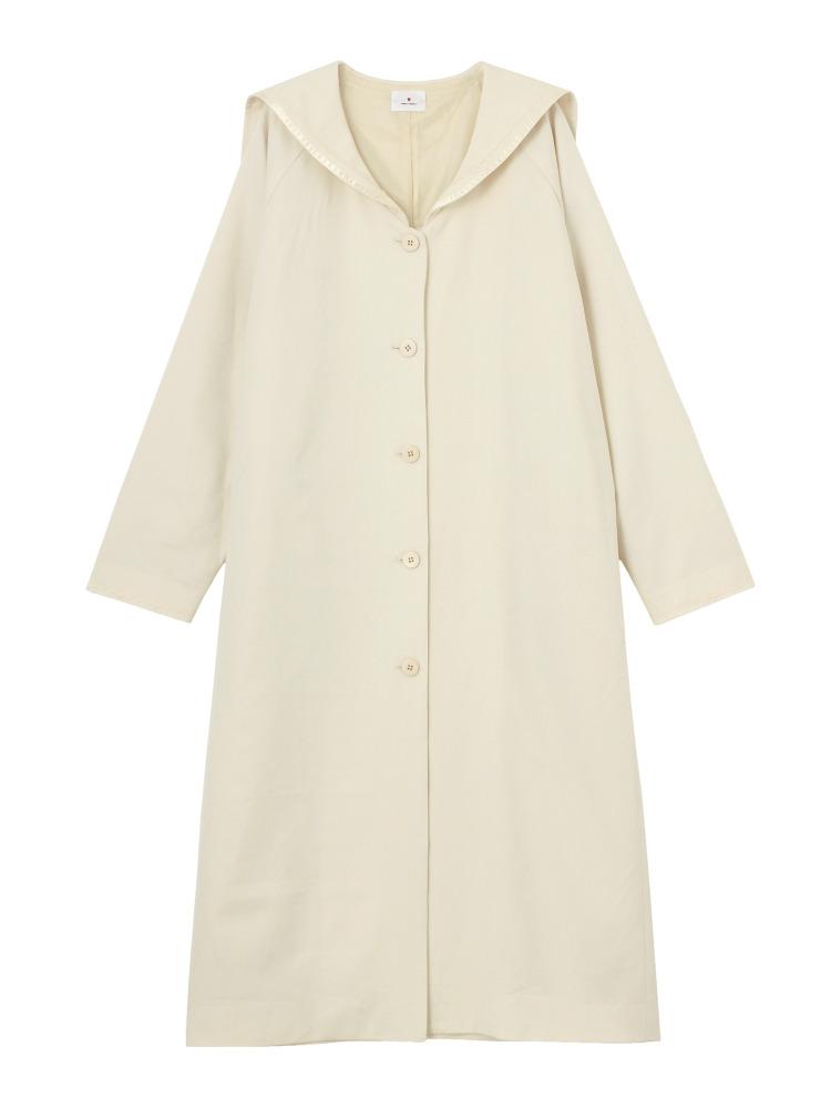 セーラーロングジャケット(オフホワイト-F)