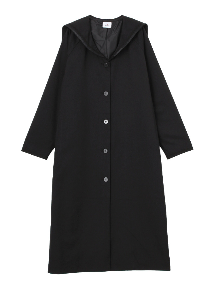 セーラーロングジャケット(ブラック-F)