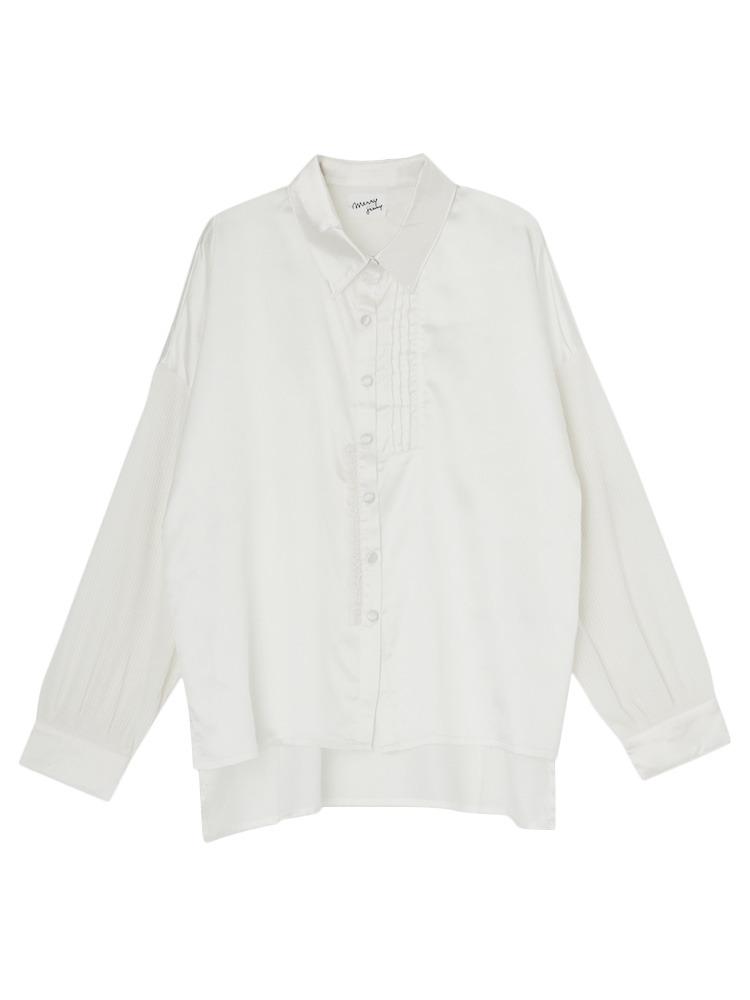 ニットドッキングシャツ(オフホワイト-F)