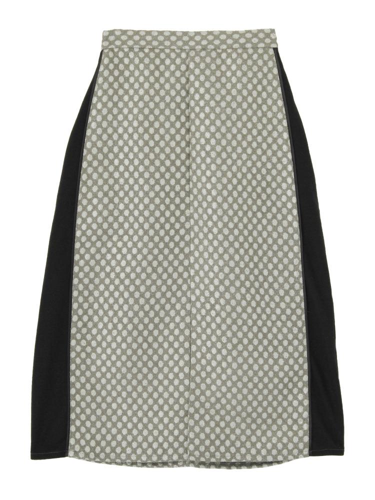 キラキラドットスリットスカート(ブラック-F)