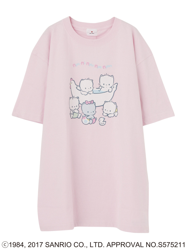 sanrio characters Tシャツ(ピンク-F)
