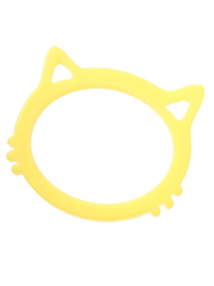 【elianegigi】ネコモチーフバングル(イエロー-F)