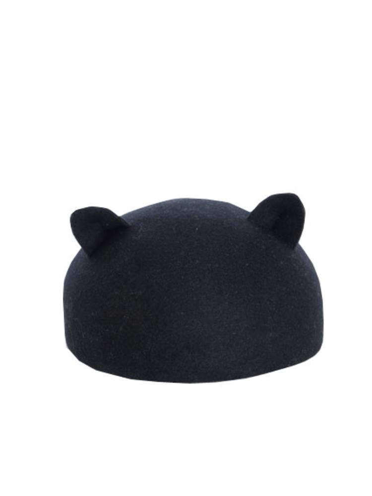 【elianegigi】ネコ耳ベレー(ブラック-F)