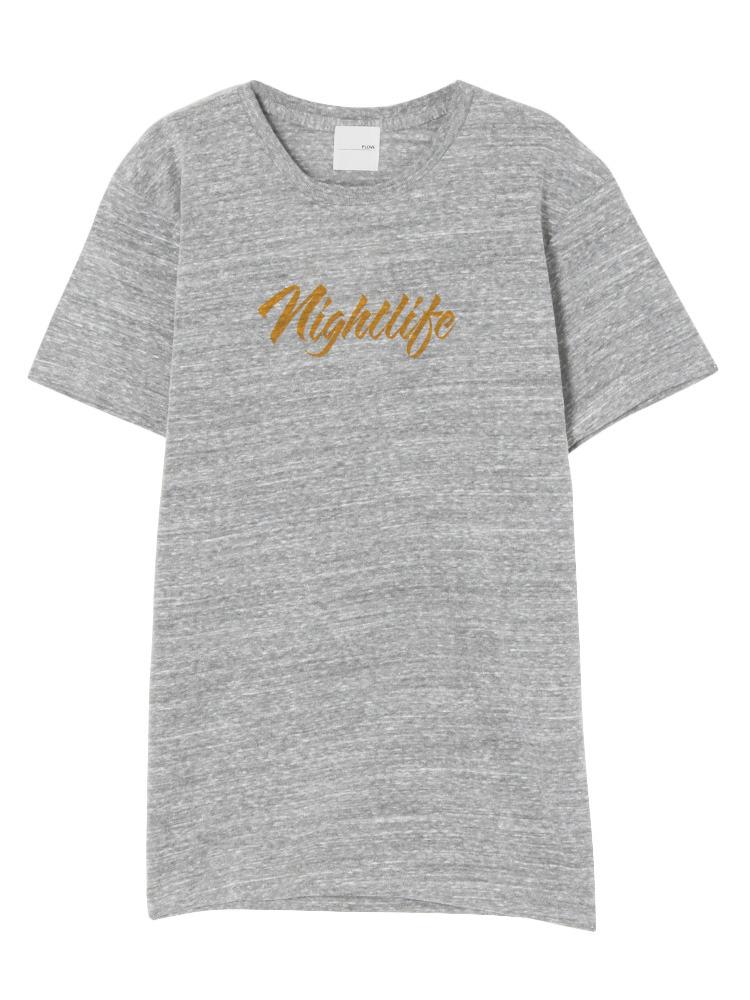 nightlife Tシャツ(グレー-S)