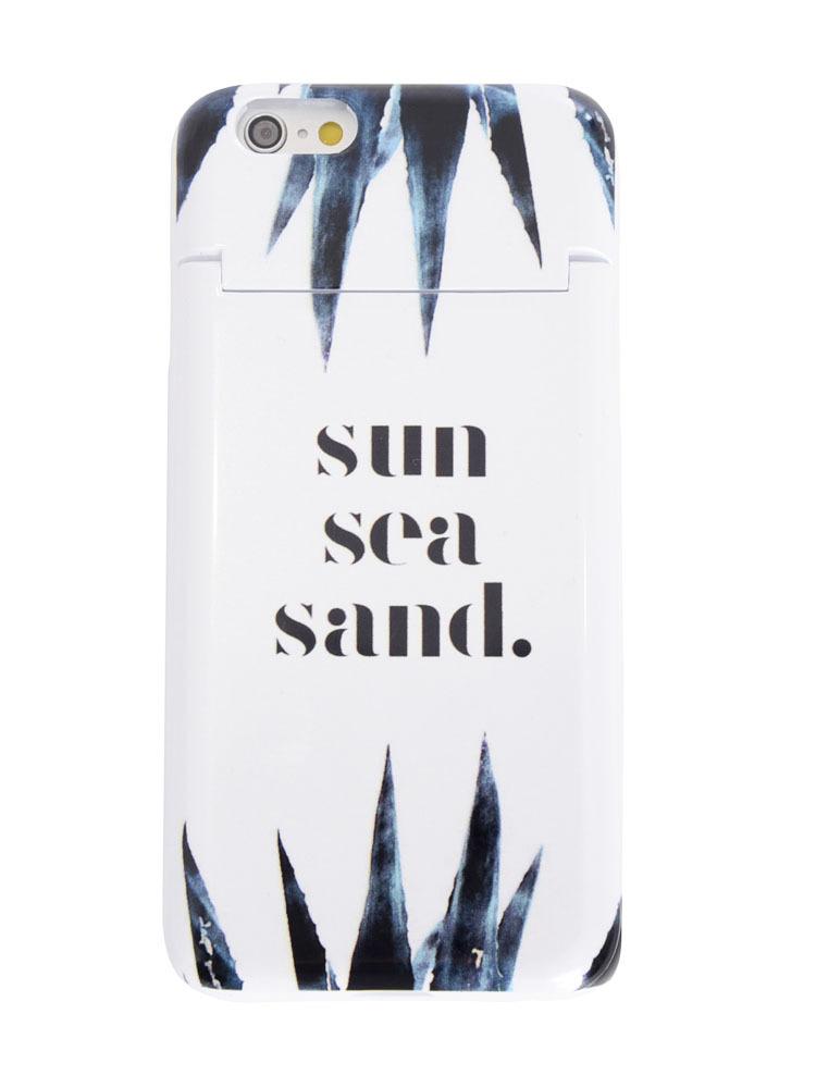 ≪6/6S対応≫sun sea sand iPhone case(ホワイト-F)