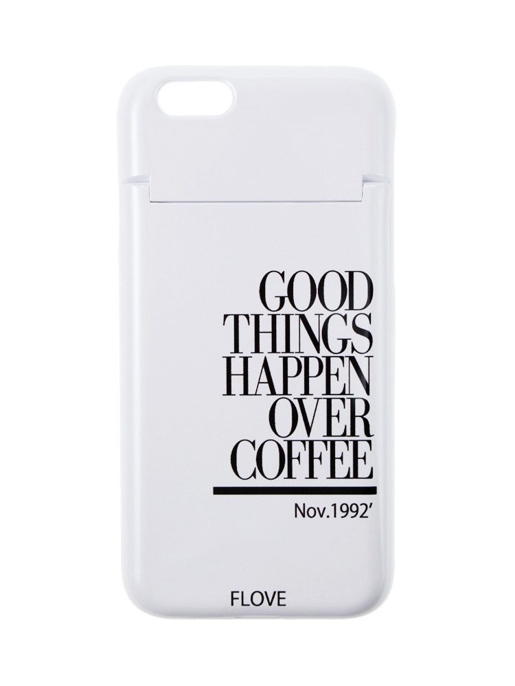 ≪6/6S対応≫GOOD THINGS iPhone case(ホワイト-F)