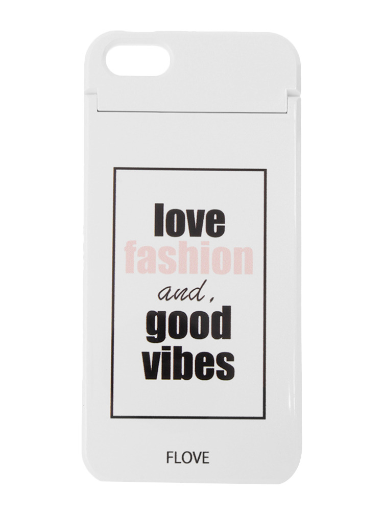≪5/5S/SE対応≫good vibes iPhone case(ホワイト-F)