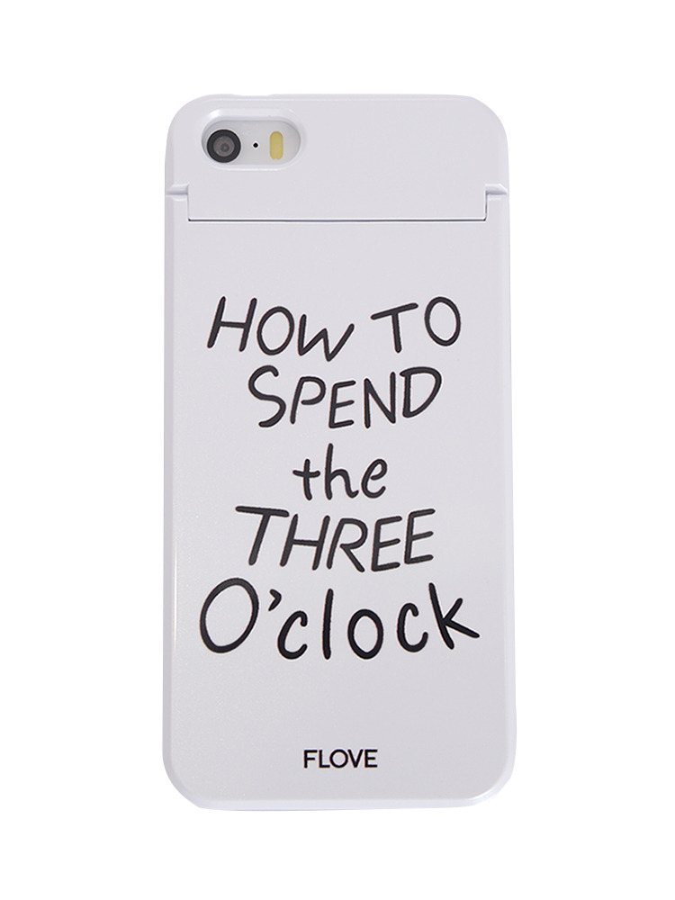 ≪5/5S/SE対応≫How to SPEND iphoneケース(ホワイト-F)