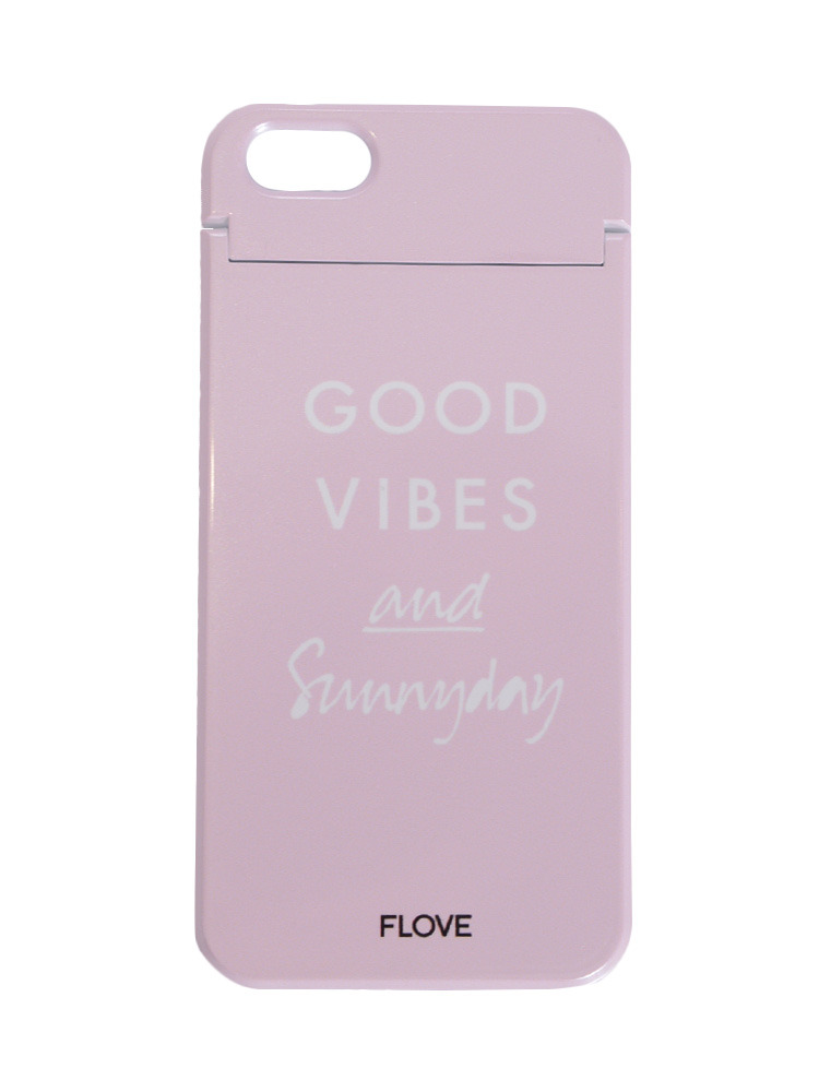 ≪5/5S/SE対応≫GOOD VIBES iphoneケース(ピンク-F)