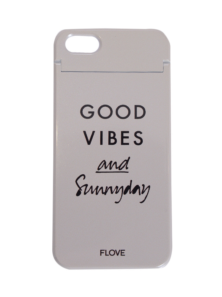 ≪5/5S/SE対応≫GOOD VIBES iphoneケース(ベージュ-F)