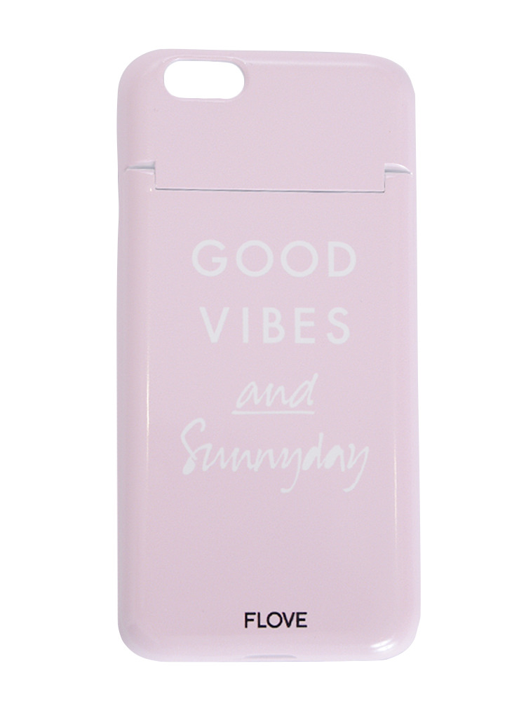 ≪6/6S対応≫GOOD VIBES iphoneケース(ピンク-F)