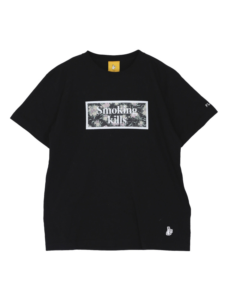 【FR2×FLOVE】SMOKING KILLS Tシャツ(ブラック-M)