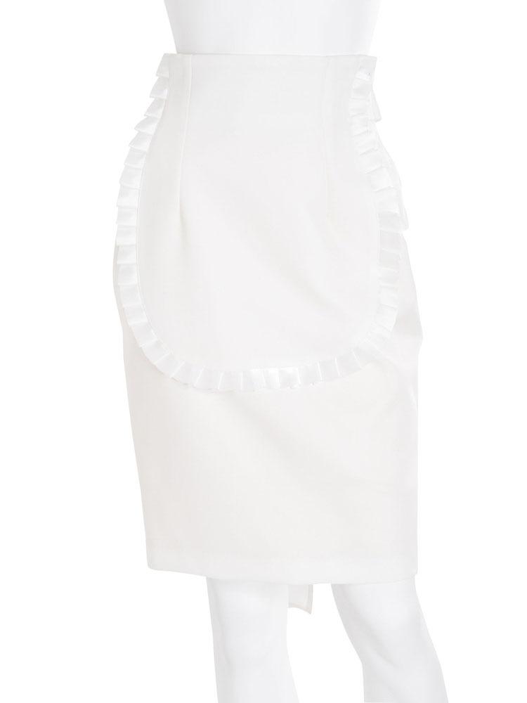 エプロンコクーンスカート(オフホワイト-S)